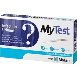 Mylan mytest autotest infection urinaire - 3 kit - mylan -206490