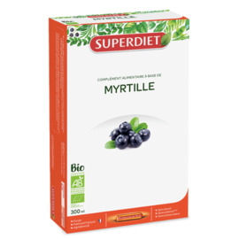 Myrtille bio - ampoules - 20.0 unites - vitalité - intellect - super diet Vision-4462