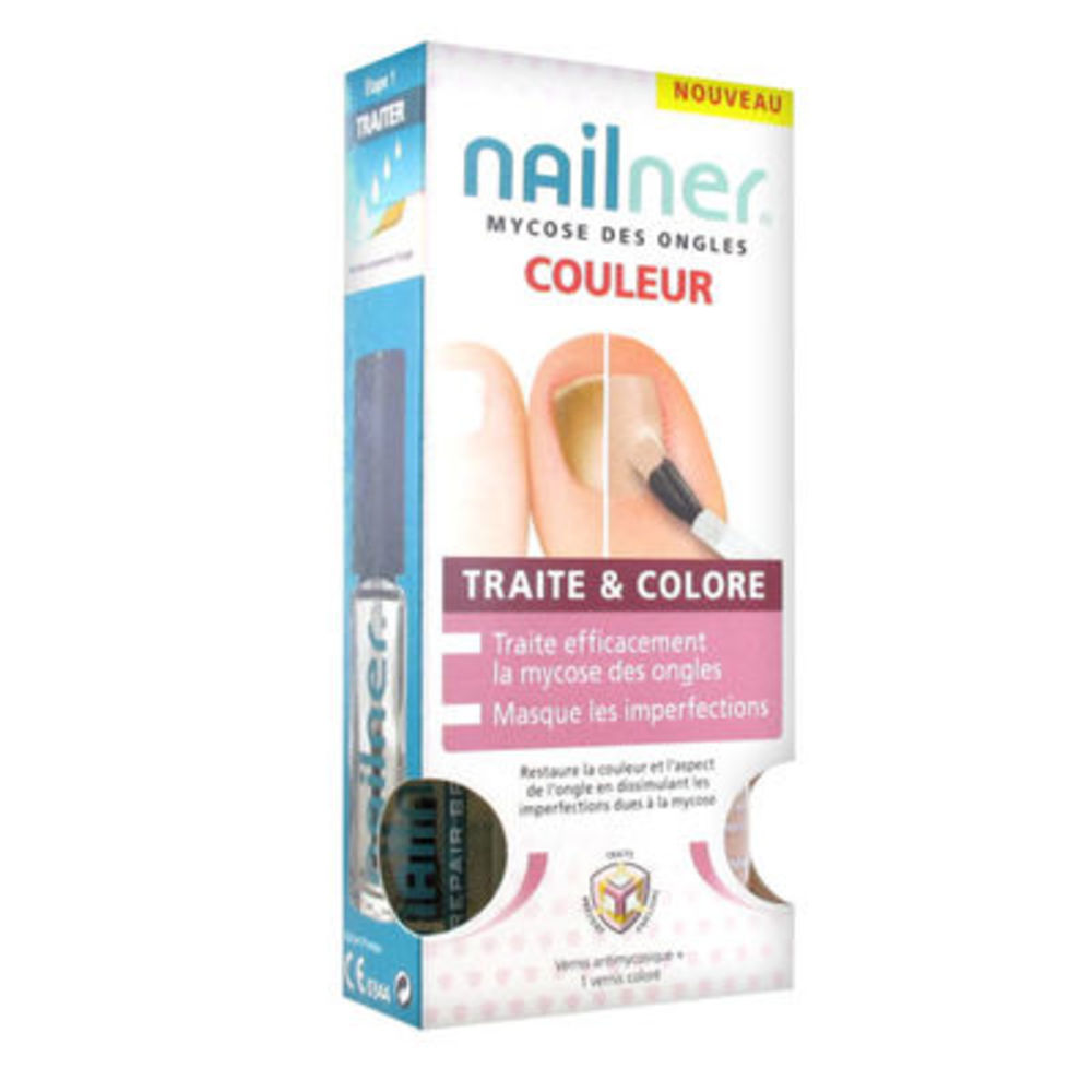 Nailner mycose des ongles traite & colore 2x5ml - nailner -219386
