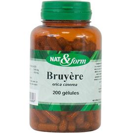 Nat & form bio bruyère bio 200 gélules - nat & form -221122