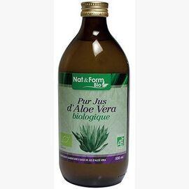 Nat & form bio pur jus d'aloe vera biologique 1l - nat & form -223251
