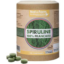 Nat & form eco spiruline 100% française 400 mg 180 comprimés - nat & form -219287