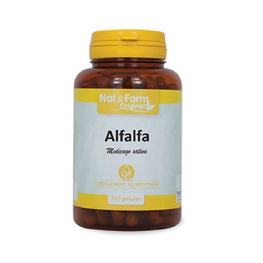NAT & FORM Original Alfalfa - 200 gélules - 200.0 unites - Nat & Form -6590