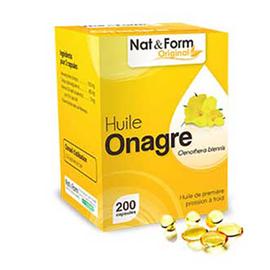 Nat & form original huile onagre bio 200 gélules - nat & form -221162