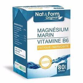 Nat & form original magnésium marin vitamine b6 80 gélules - nat & form -215642