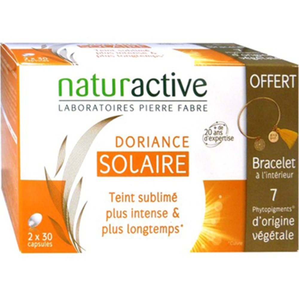 Naturactive doriance solaire 2 x 30 capsules + bracelet offert - doriance -220452