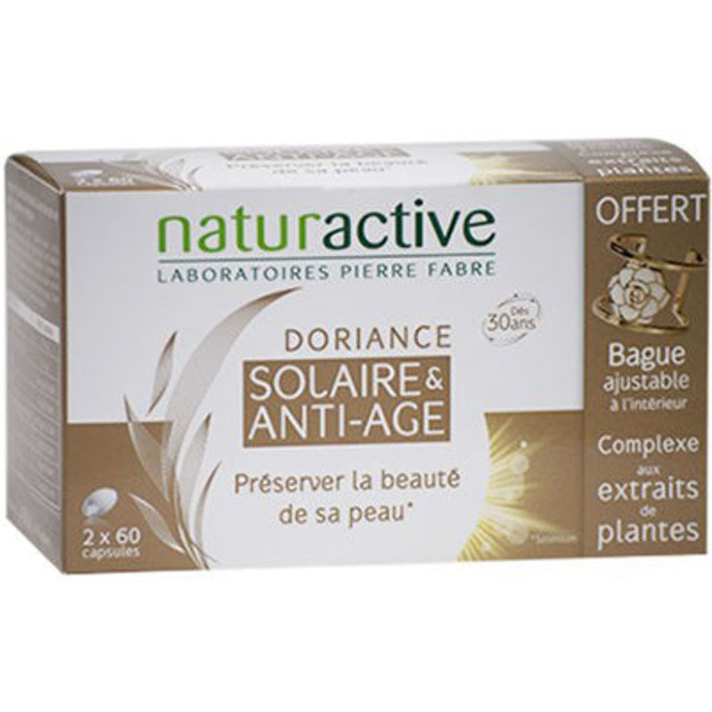 Naturactive doriance solaire & anti-age 2x60 capsules + bague offerte - doriance -225896