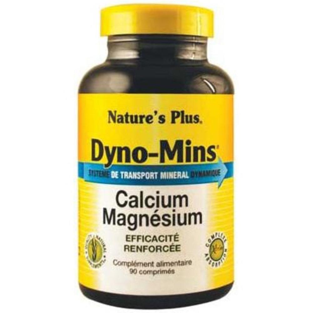 Nature's plus dyno-mins calcium magnésium - 90 comprimés - 90.0 unites - vitamines et minéraux - nature plus -8748