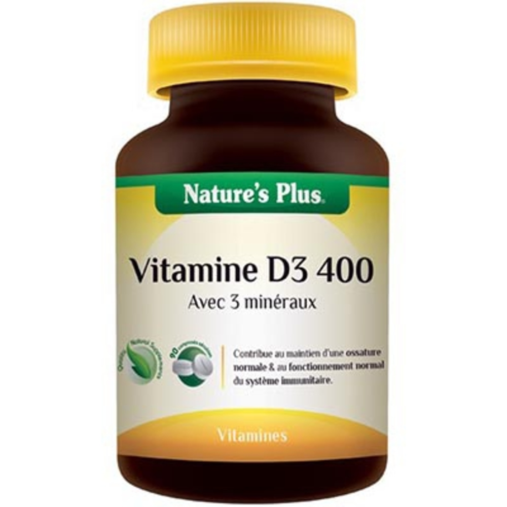 Nature's plus vitamine d3 400 - divers - nature plus -137074