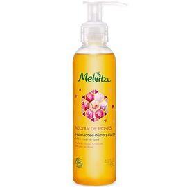Nectar de roses huile lactée démaquillante bio 145ml - nectar de roses - melvita -213370