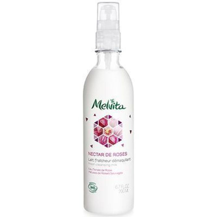 Nectar de roses lait fraîcheur démaquillant bio 200ml Melvita-213371
