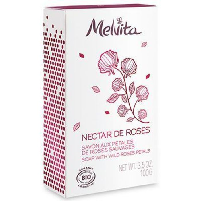 Nectar de roses savon bio 100g Melvita-213387