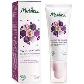 Nectar de roses soin nuit ressourçant bio 40ml - nectar de roses - melvita -213375
