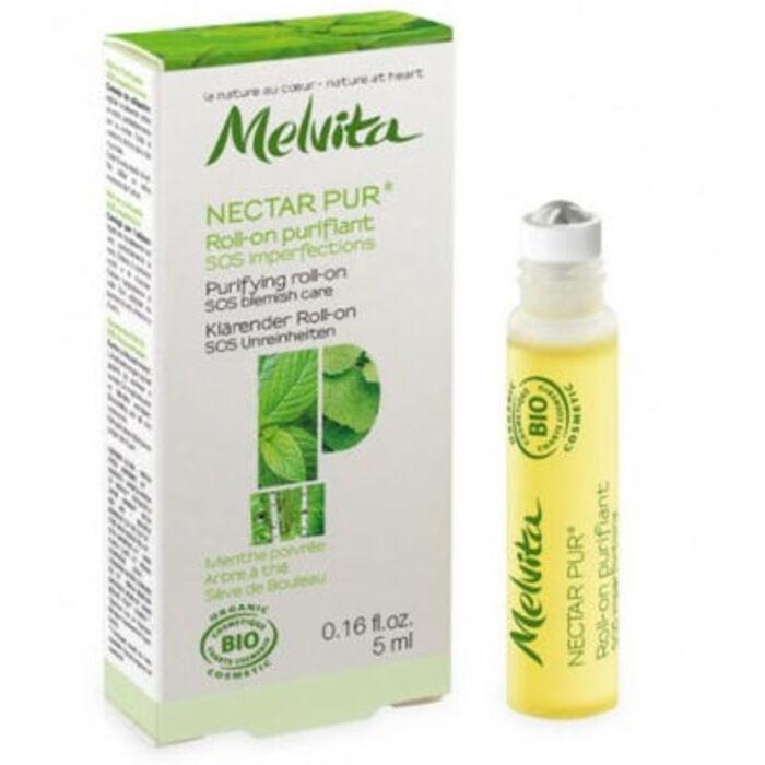 Nectar pur roll-on purifiant sos imperfections bio 5ml Melvita-213390