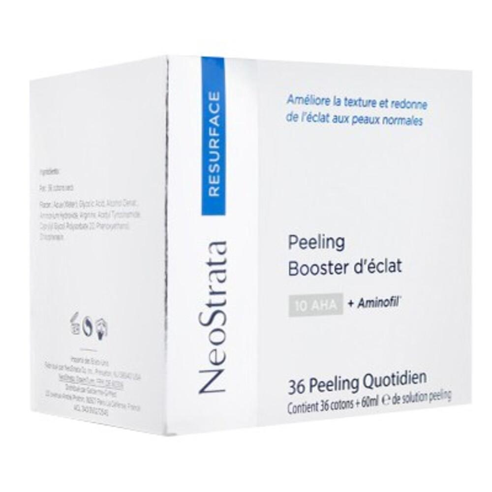 Neostrata peeling booster d'eclat 10 aha + aminofill - 36 cotons - neostrata -214086