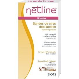 Netline bandes de cire dépilatoires corps x20 - 18.0 unites - cires dépilatoires à froid - bioes -4605
