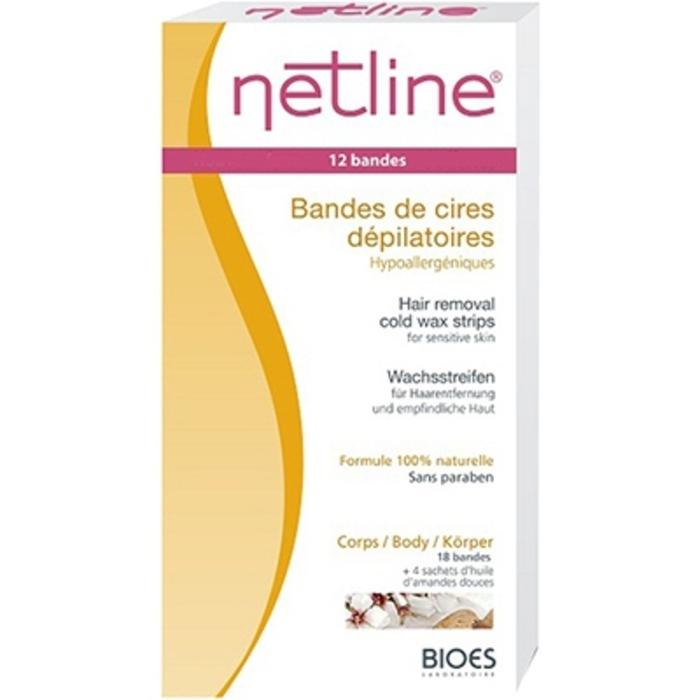 Netline bandes de cire dépilatoires corps x20 Bioes-4605