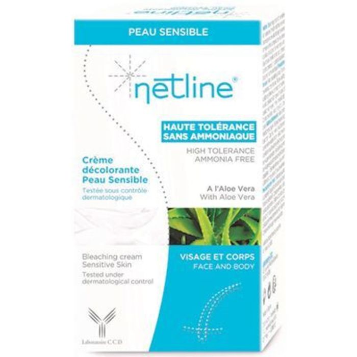 Netline crème décolorante peau sensible visage et corps 30ml Bioes-221886