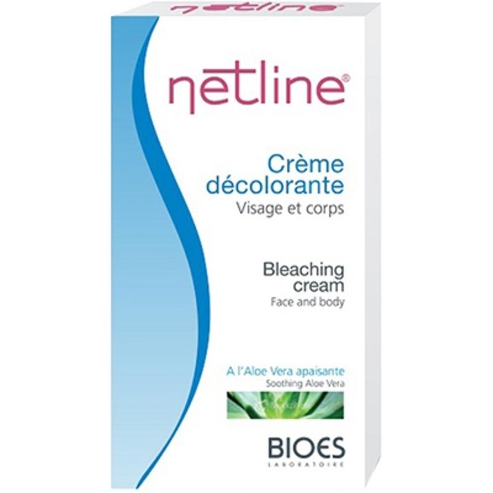 Netline crème décolorante visage et corps - 60.0 ml - crèmes dépilatoire et décolorantes - bioes -4600