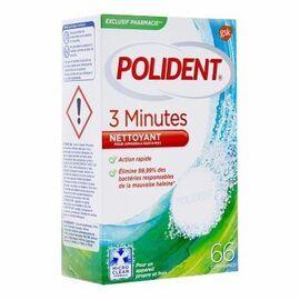 Nettoyant 3 minutes 66 comprimés - polident -214461