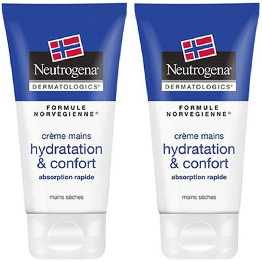 Neutrogena crème mains hydratation & confort 2x75ml - neutrogena -214460