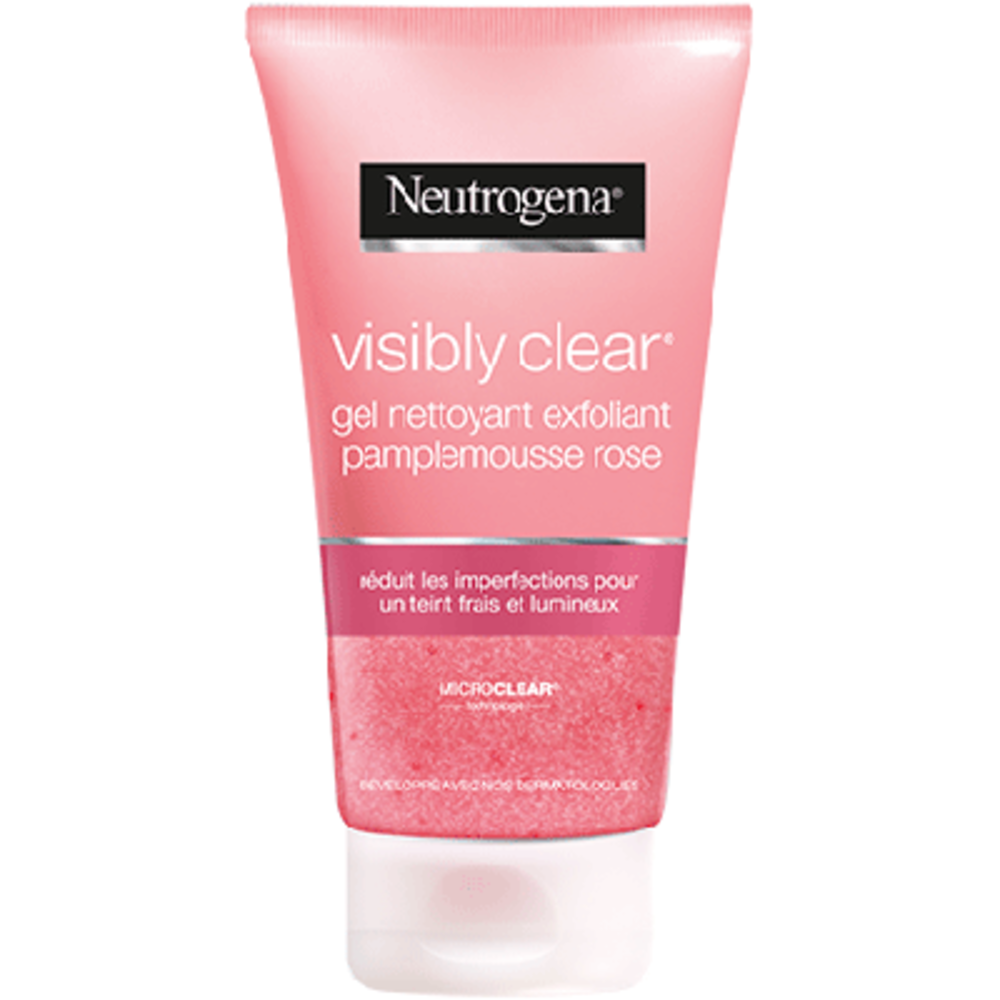 Neutrogena gel nettoyant exfoliant pamplemousse rose 150ml - neutrogena -225933