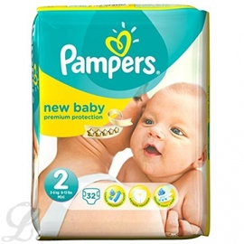 New baby - taille 2 - pampers -146462