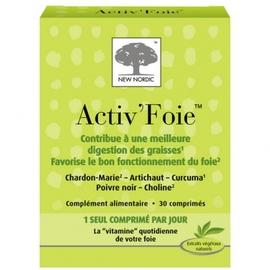 New nordic activ foie - 30 comprimés - new nordic -148061