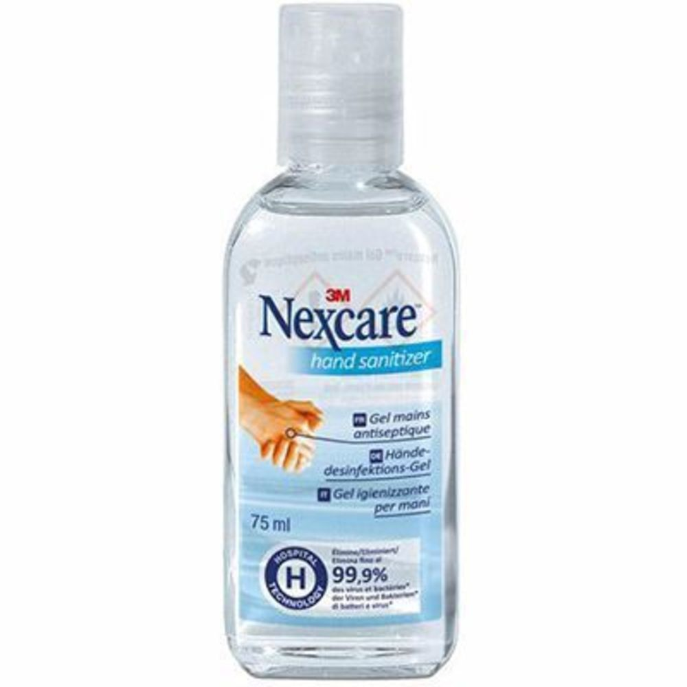 Nexcare gel mains antiseptique 75ml - 75.0 ml - nexcare gel mains - nexcare désinfection optimale des mains-7251