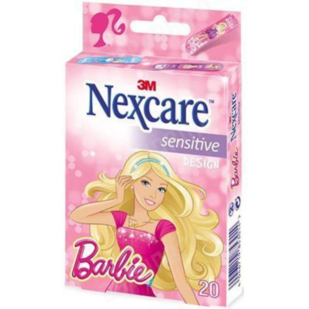 Nexcare sensitive design barbie 20 pansements - 20.0 u - nexcare -224395