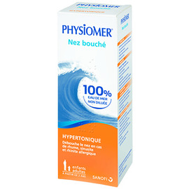 Nez bouché spray hypertonique - 135.0 ml - hygiène nasale - physiomer -141437
