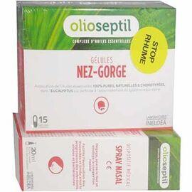 Nez-gorge 15 gélules + spray nasal 20ml - olioseptil -225383