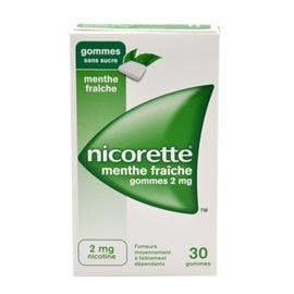 Nicorette 2mg sans sucre - 30 gommes - johnson & johnson -194044