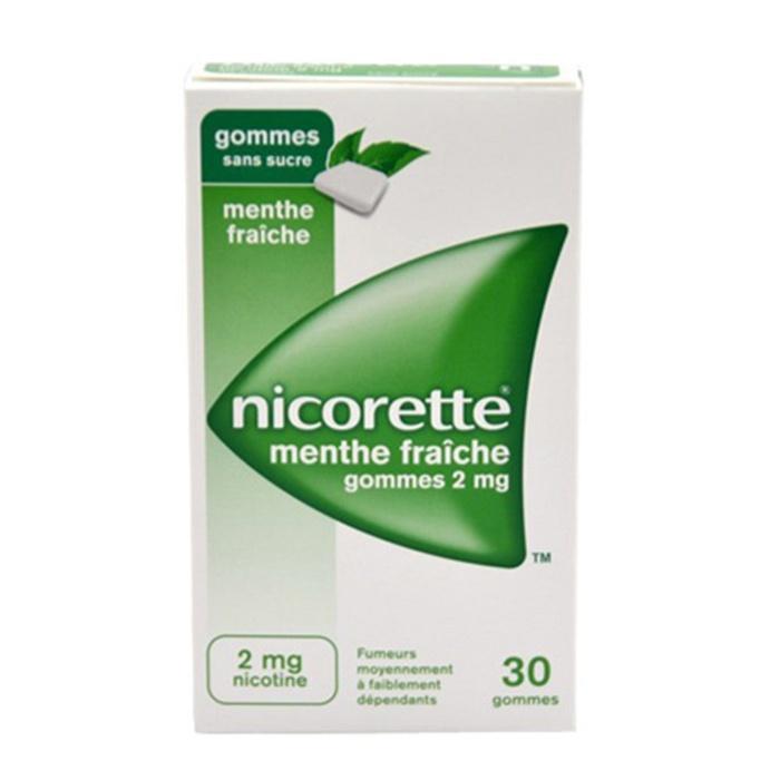 Nicorette 2mg sans sucre - 30 gommes Johnson & johnson-194044