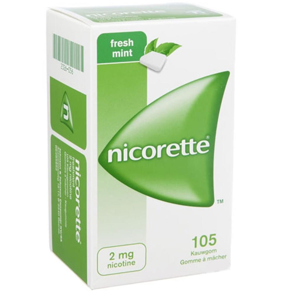 Nicorette menthe fraîche 2mg sans sucre - 105 gommes - johnson & johnson -194056