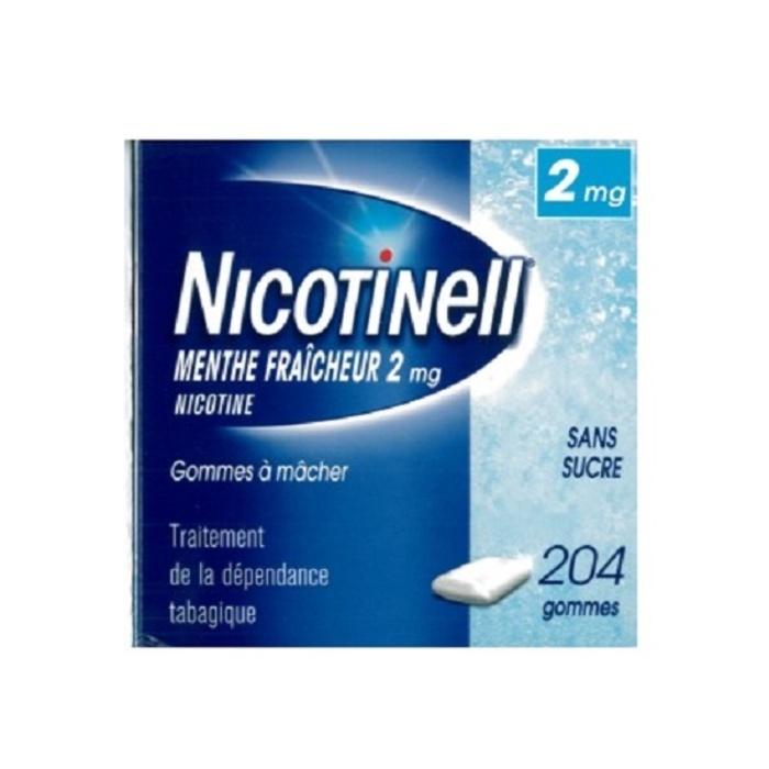 Nicotinell menthe fraîcheur 2mg sans sucre - 204 gommes Novartis-194075