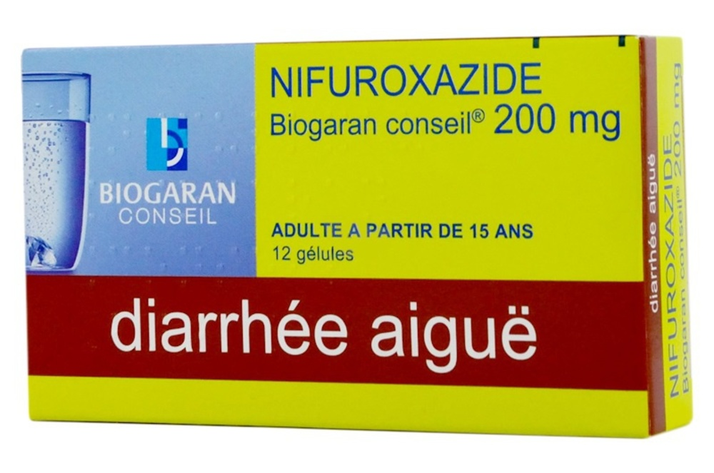 Nifuroxazide  conseil 200mg - 12 gélules Biogaran-192617