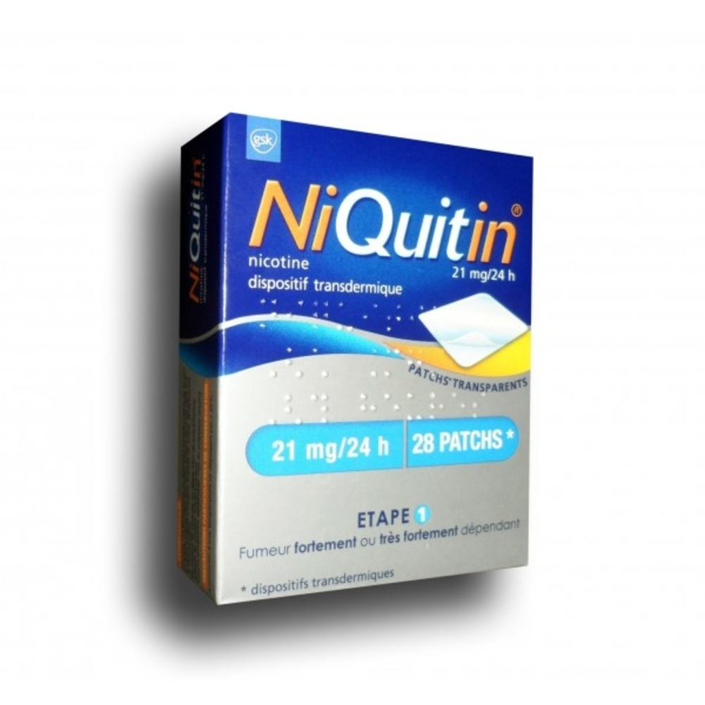 Niquitin 21mg/24h - 28 patchs - 114.0 mg - laboratoire gsk -194282