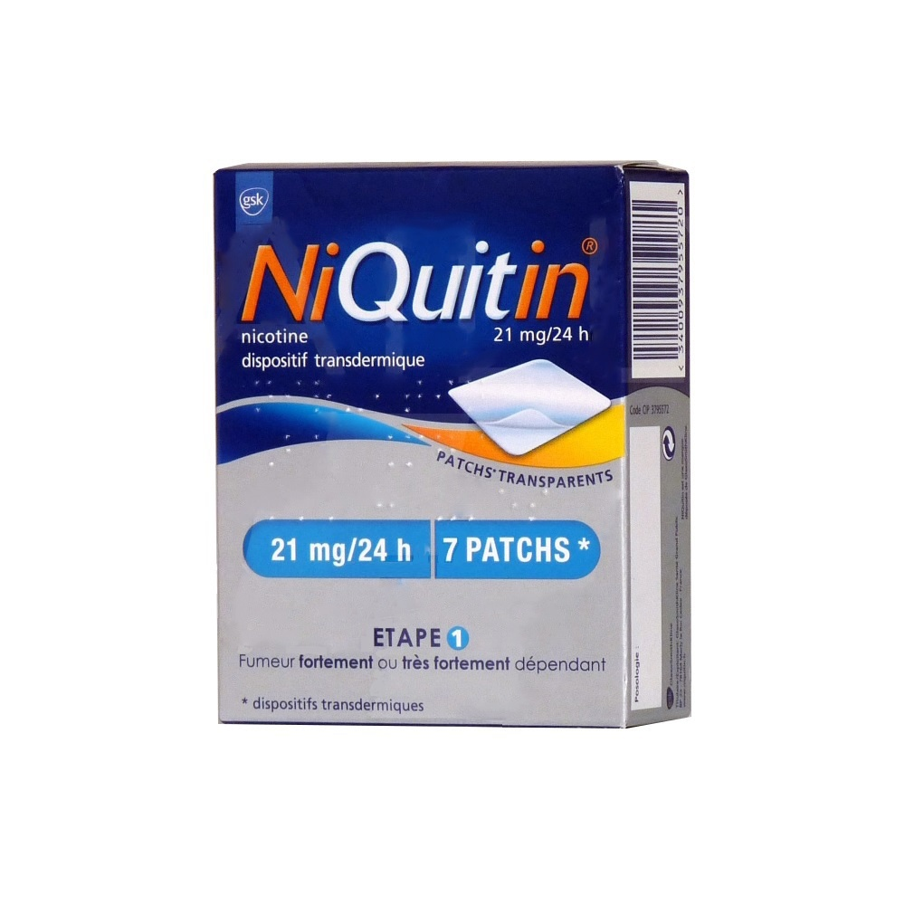 Niquitin 21mg/24h - 7 patchs - laboratoire gsk -194281