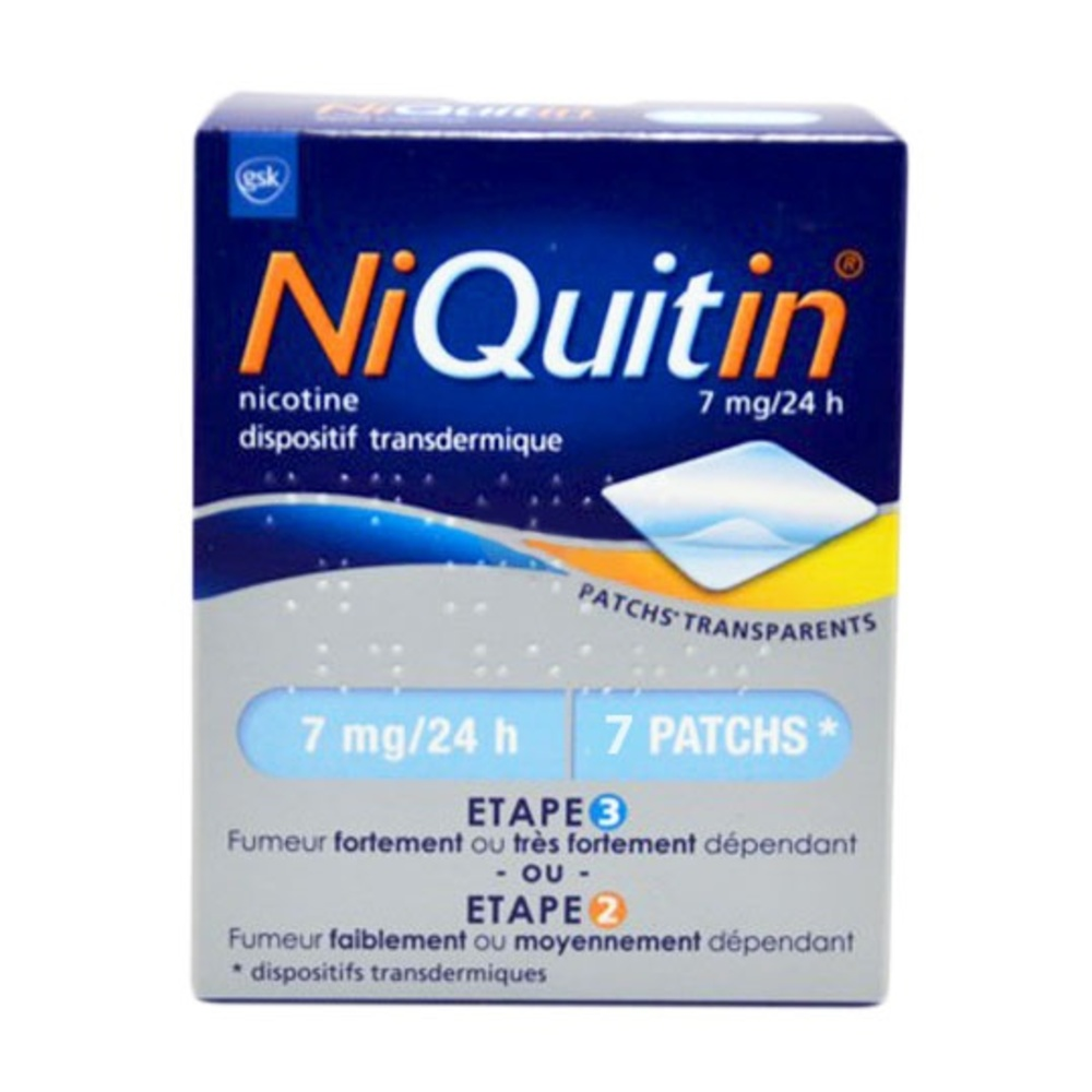 Niquitin 7mg/24h - 7 patchs - laboratoire gsk -206886
