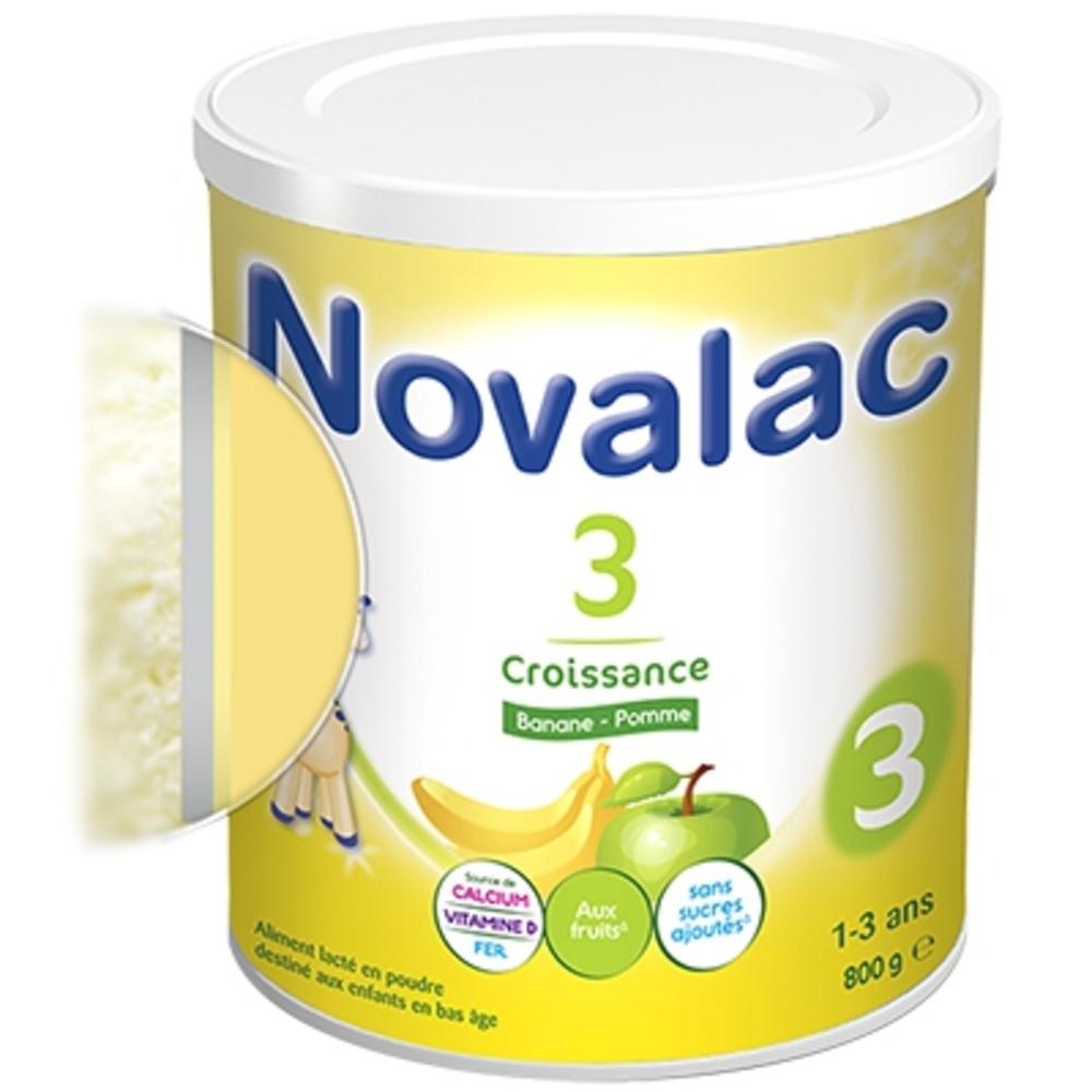 Novalac 3 lait croissance banane pomme - 800g - novalac -211137