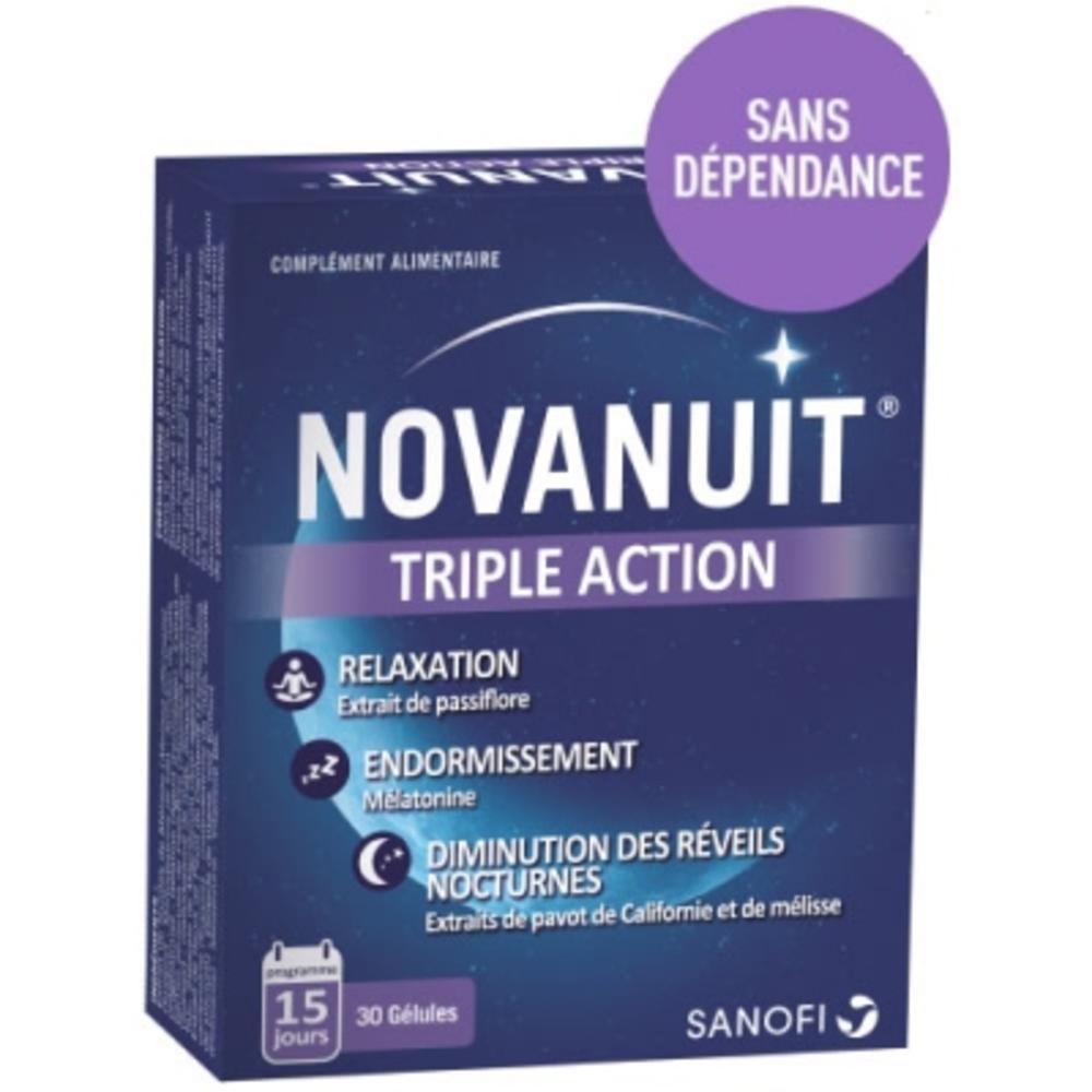 Novanuit triple action 30 gélules - 30.0 unites - seniors - sanofi -141416