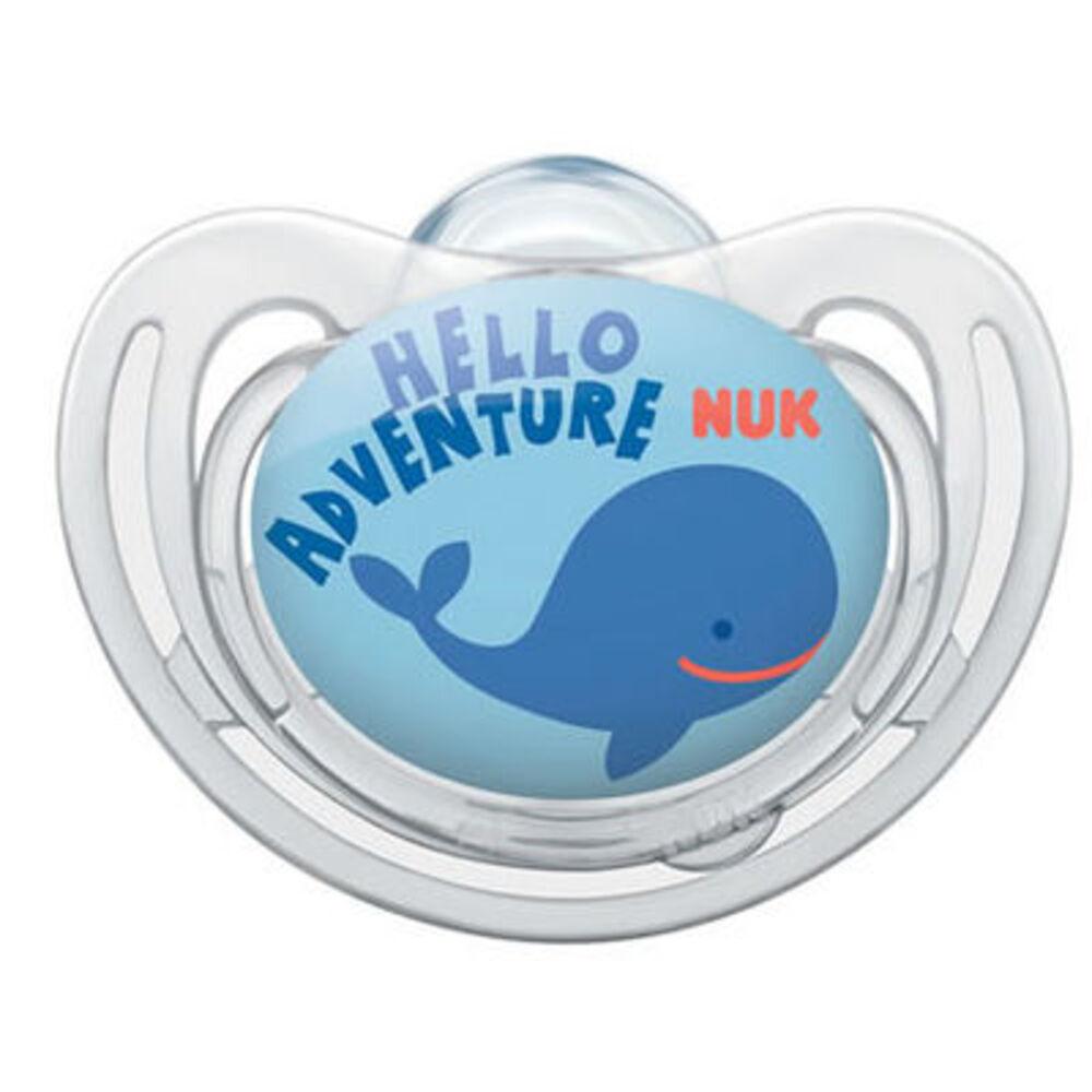 Nuk 2 sucettes silicone freestyle garçon taille 1 0-6mois Nuk-214965