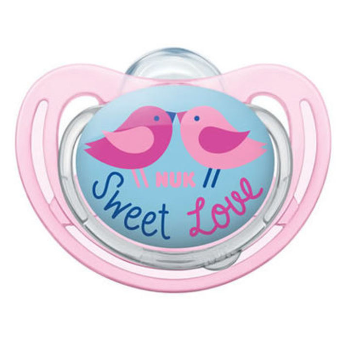 Nuk sucette silicone freestyle fille taille 3 +18mois Nuk-214964