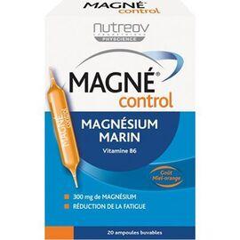 Nutreov magné control magnésium marin vitamine b6 goût miel-orange 20 ampoules - nutreov -221824