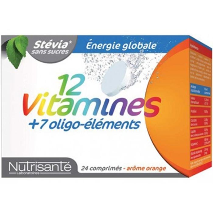 Nutrisante 12 vitamines + 7 oligo-éléments 24 comprimés effervescents Nutrisanté-196157