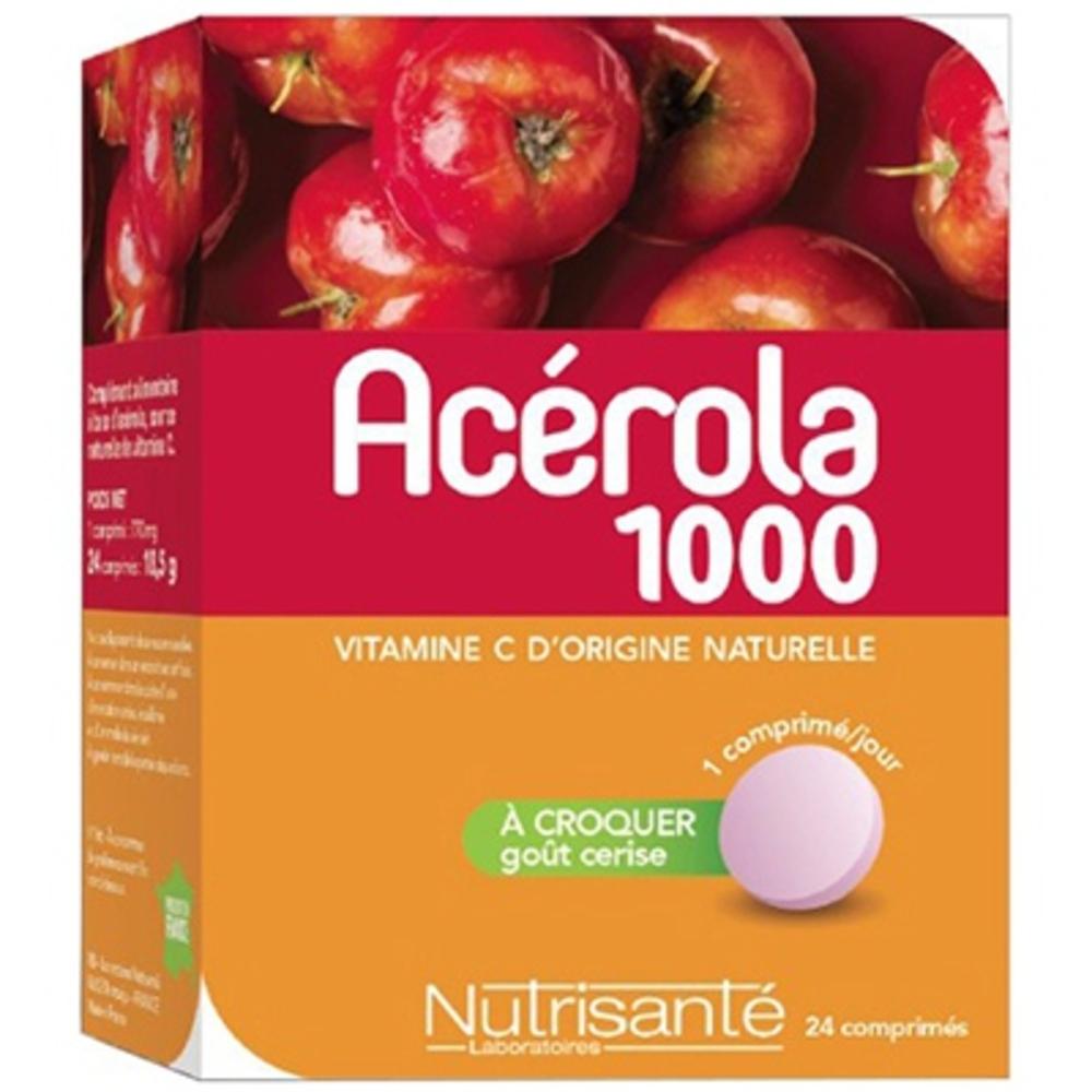 NUTRISANTE Acérola 1000 24 comprimés à croquer - Nutrisanté -190784