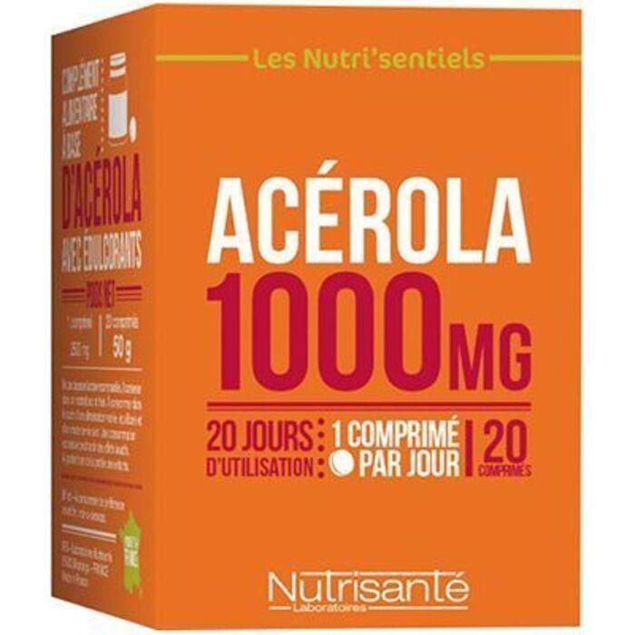 Nutrisante acérola 1000mg 20 comprimés Nutrisanté-219596