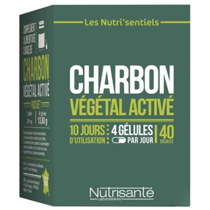 Nutrisante charbon végétal activé - 40 gélules Nutrisanté-206562