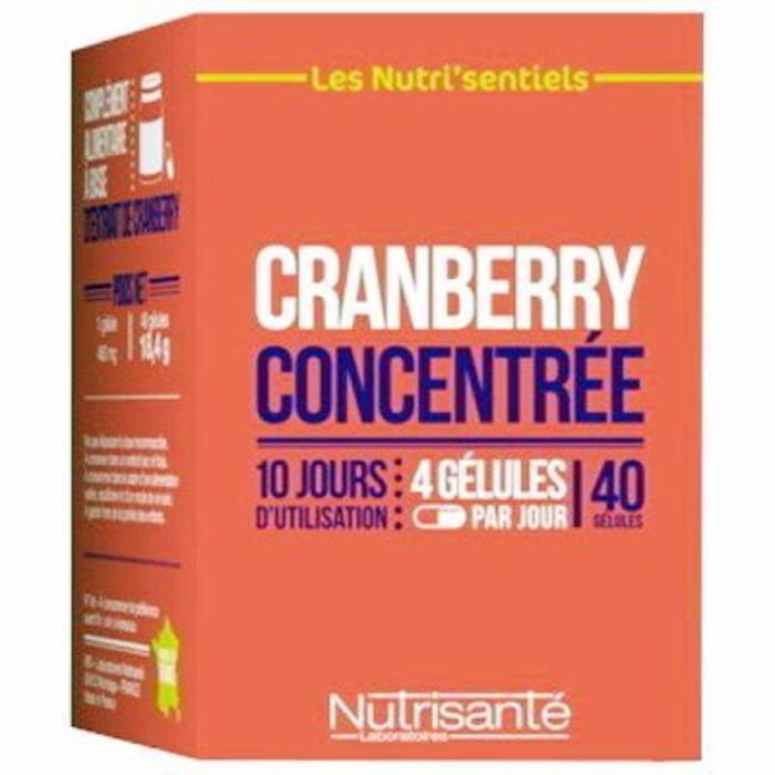 Nutrisante cranberry concentrée 20 gélules Nutrisanté-216693